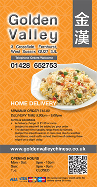 Golden Valley Takeaway Menu - Zinpify, Milton Keynes